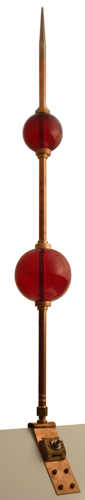 Glass Ball and Rod old world distributors finial