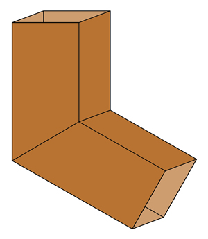 copper smooth square elbow Old World Distributors
