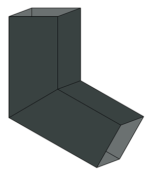 zinc smooth square elbow Old World Distributors
