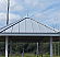 Americana Finial on Standing Seam Roof - Painted Silver Metallic Aluminum