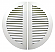 36 in Split Commercial Sidewall Vent in Bone White Aluminum