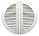 36 in Split Commercial Sidewall Vent in Bone White Aluminum