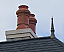 Two Baltic Chimney Pot with a Ball and Spire Finial