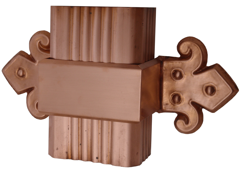Band End With Corrugated Rectangular Gutter