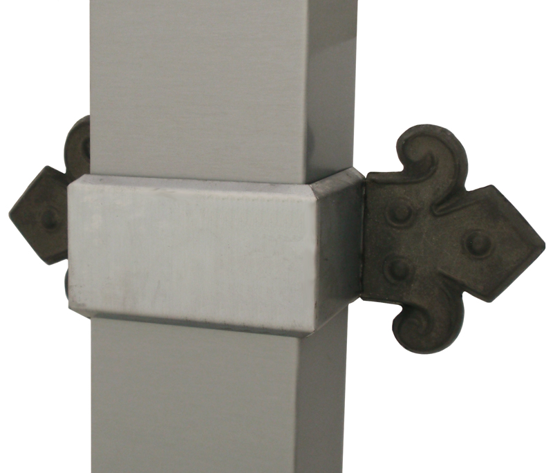 Zinc Band End With Smooth Rectangular Downspout