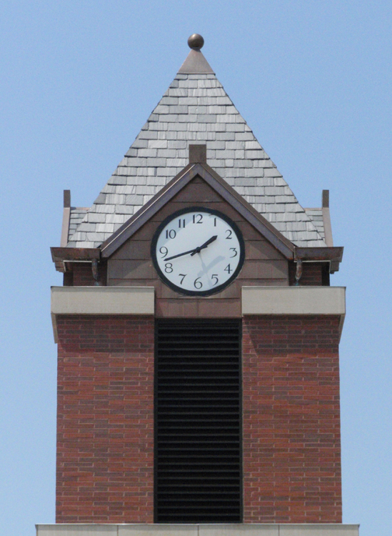 Ball and Base Finial on Tinley Park, IL Metra Station Clock Tower