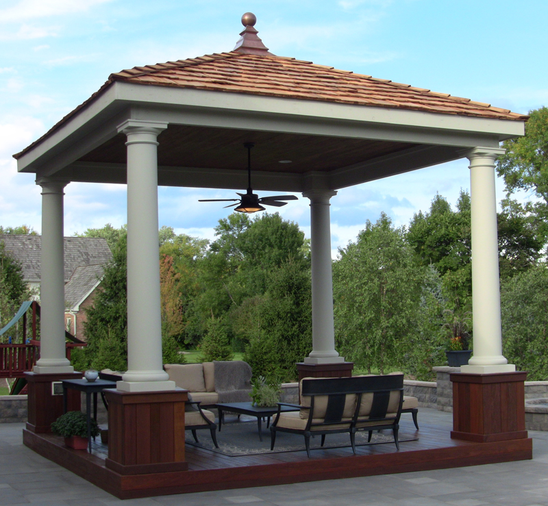 Modified Crescent Finial on Gazebo