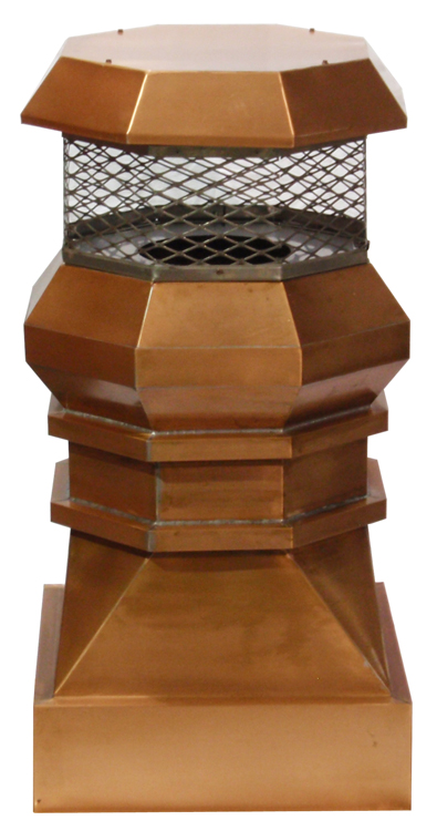Copper Baltic Chimney Pot