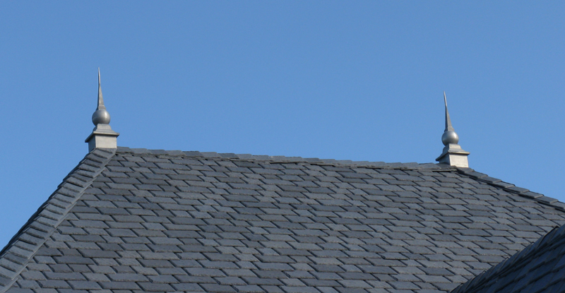 Lead Coated Chapels on Slate Roof