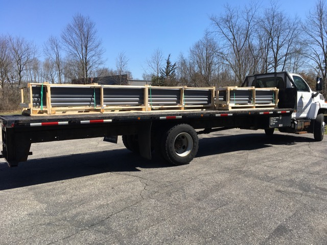 Crated Panels on the Old World Delivery Truck
