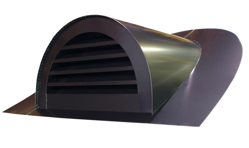 Half Round Dormer - Matte Black Kynar Aluminum