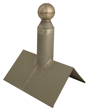 Zinc Mast Terminator with Stainless Steel Ball