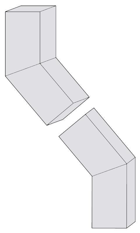 Aluminum Elbows - B 40 degrees