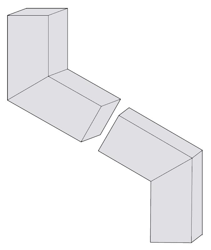 Aluminum Elbows - B 72 degrees