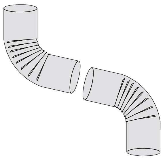Aluminum Elbows - Smooth 72 Degrees