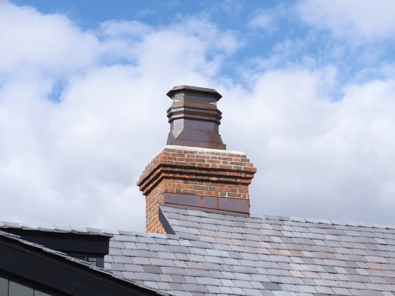 Custom Baltic Chimney Pot - Installed