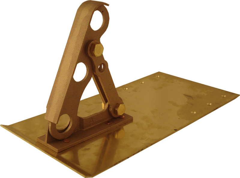 Solid Bronze Bracket for Three Pipe Rail System