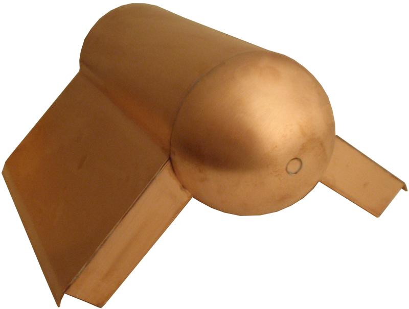 Bullet Ridge Roll Terminator - Unvented Copper