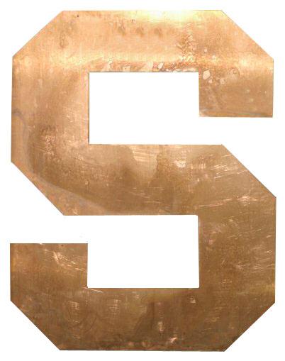Copper Letter - S