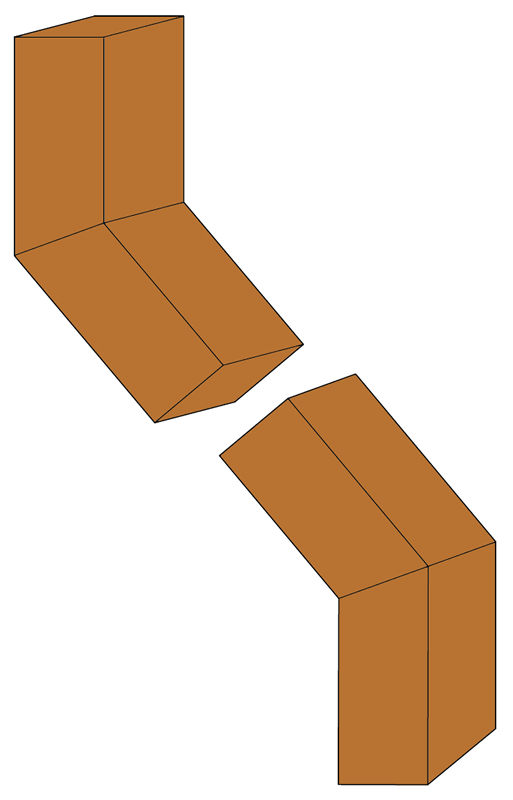 Copper Elbows - A 40 degrees