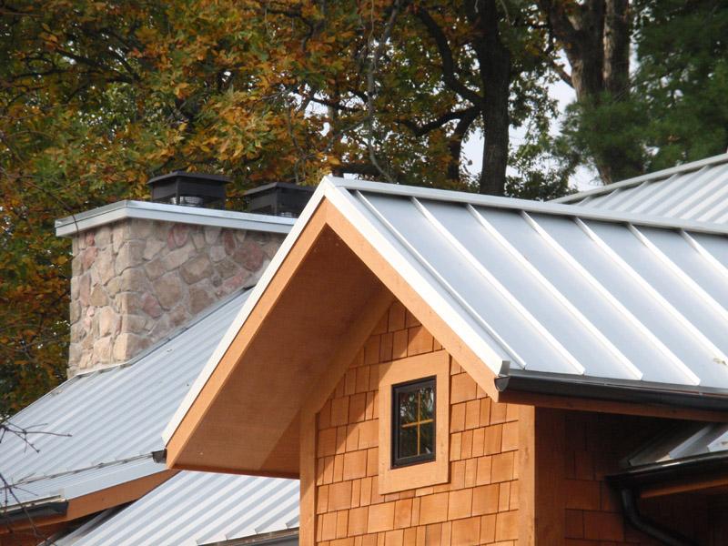 Painted Aluminum Ridge Cap Installed