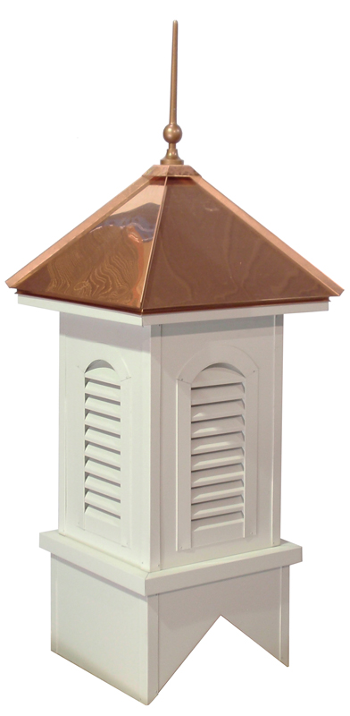 Copper Roof/Aluminum Clad Base Cupola w/Arched Vent