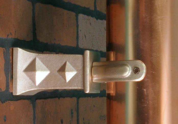 """4"""" diamond offset - Brass"""