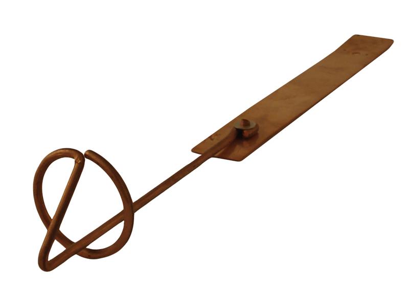 copper fastener pad wire loop snow guard