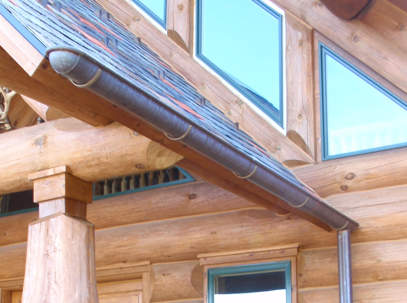 Half Round Copper And Lead Coated Gutter