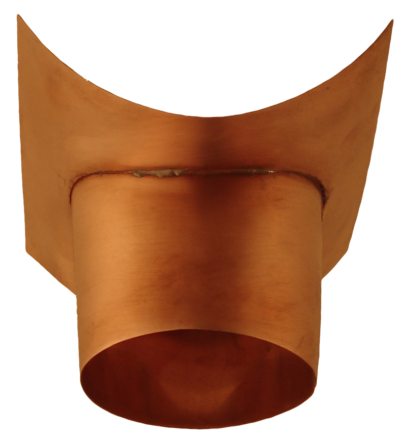 Half Round Outlet - Copper