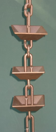"Japanese Rain Chain ""Kusari Doi"""