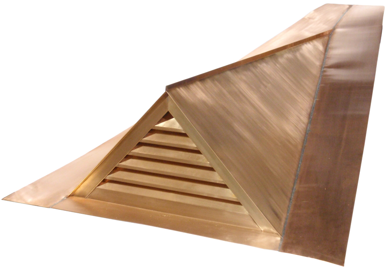 Copper Gable Dormer Vent in Copper on 4/12 Pitch