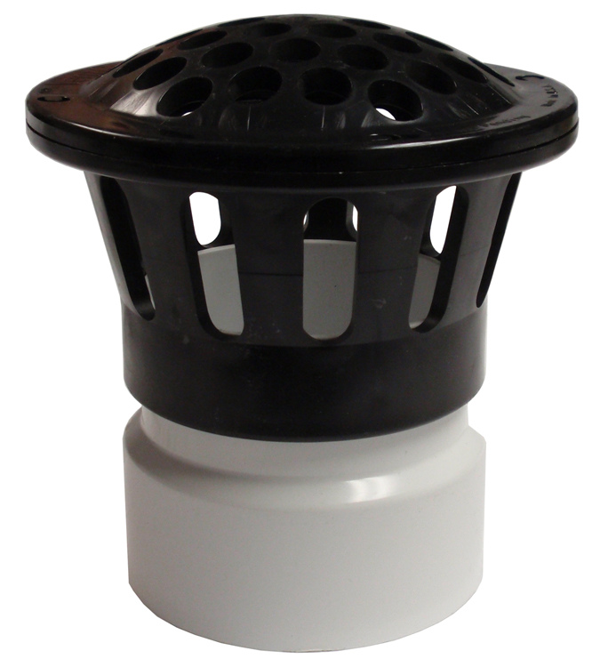 PVC Vent Cap on Adapter