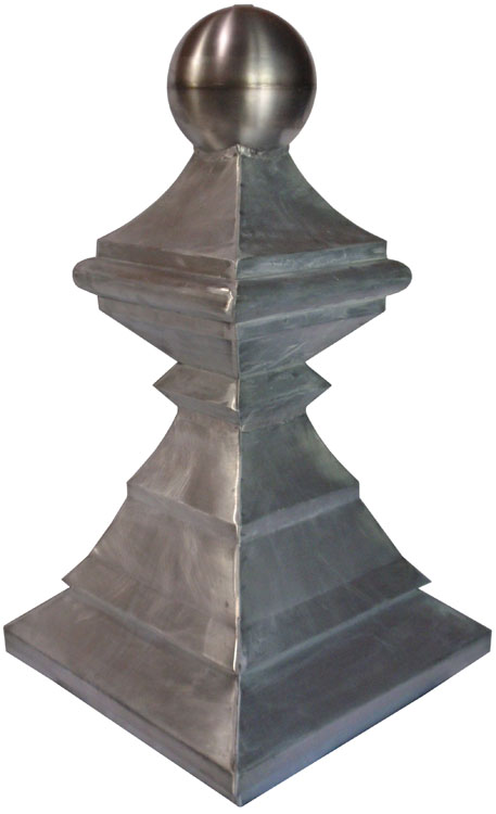 Crescent Finial - Zinc w/ Stainless Steel Ball