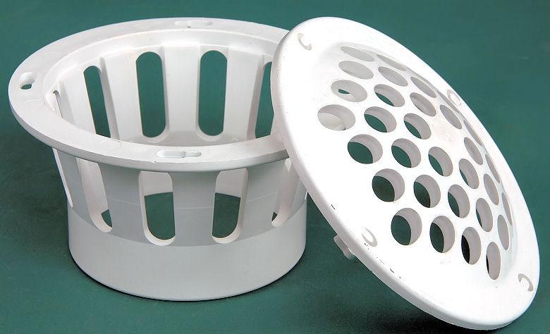 White PVC Vent Cap Open