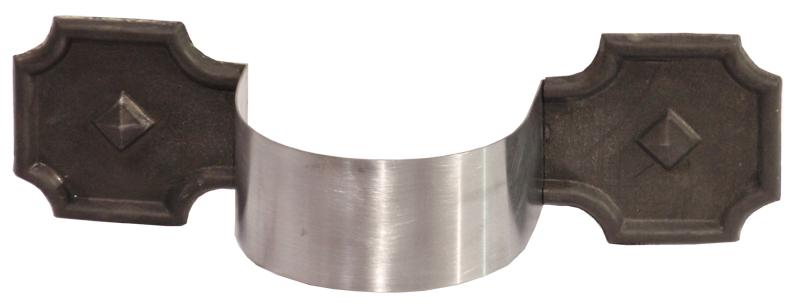 Zinc Bandends on round strap