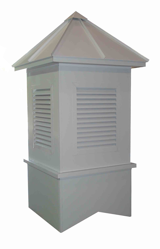 Aluminum Roof/Aluminum Clad Base Cupola w/Rectangular Vent