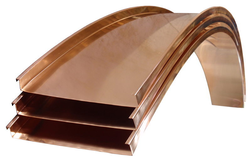 Radius Copper Mechanical Lock Panels