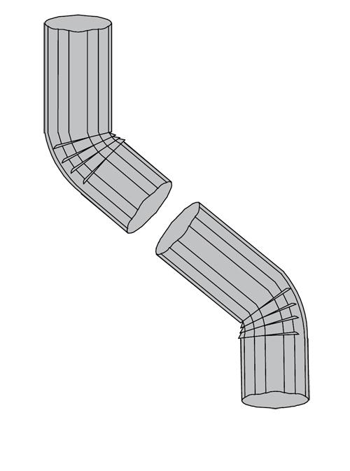 40 degree corrugated galvalume elbow