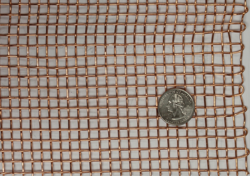 Copper Wire Mesh with US Quarter