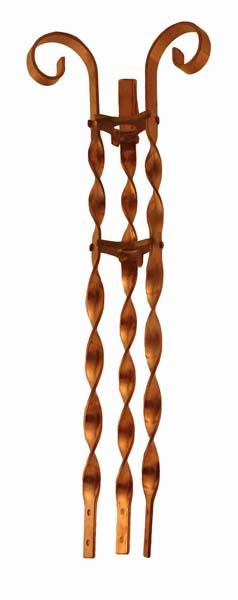 Solid Copper Scroll Brace