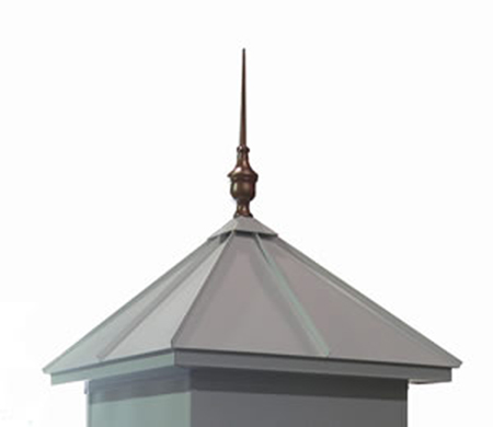 Aluminum Roof w/Utopia Finial