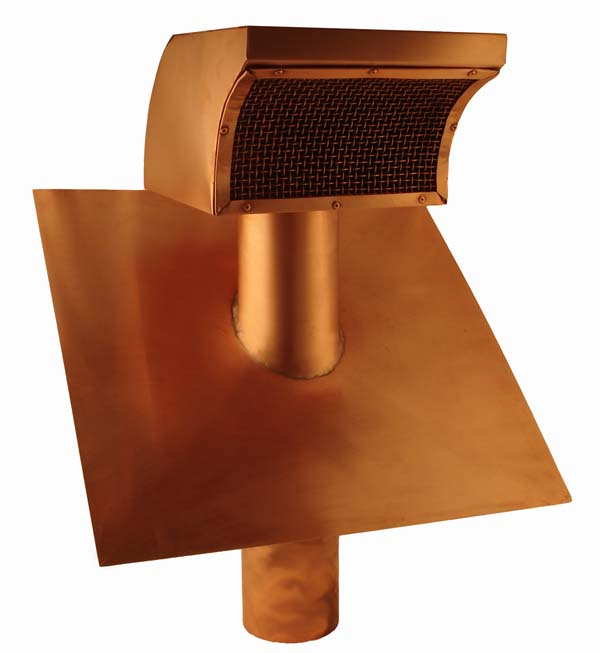 Copper Roof Vent With Damper