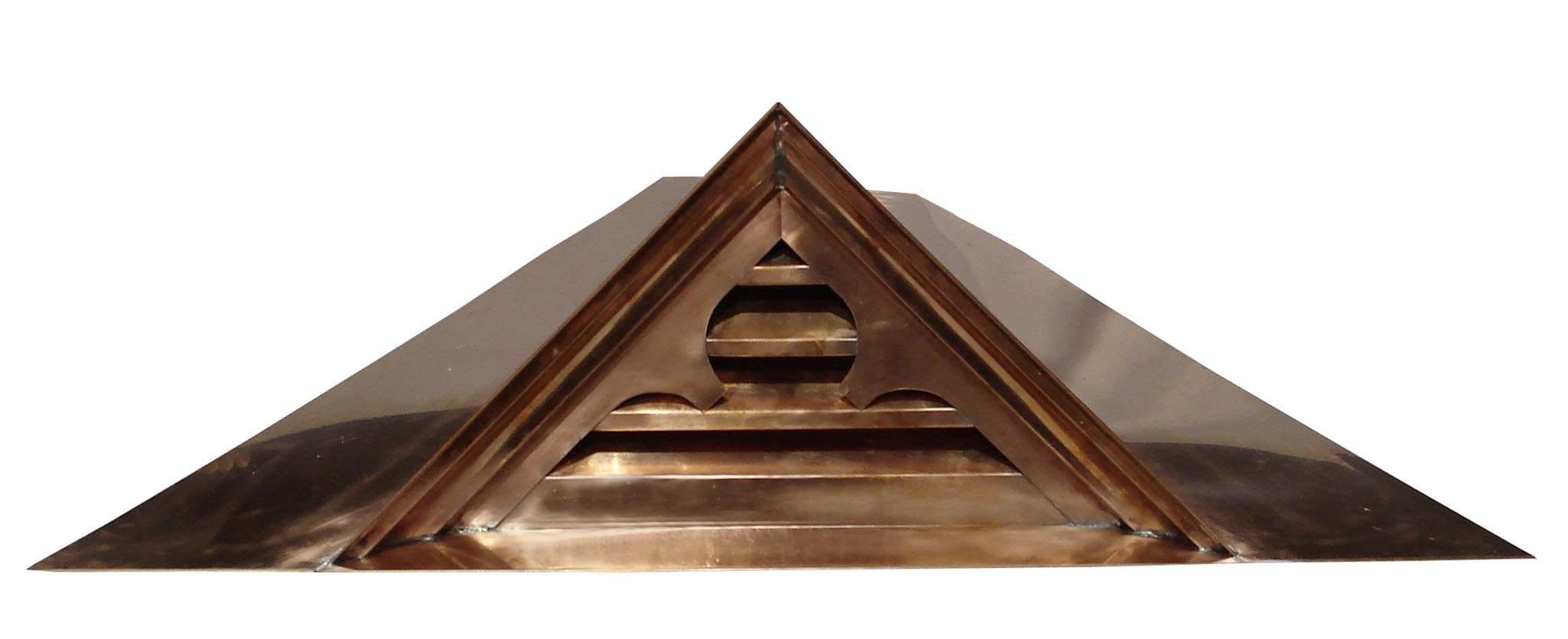 Gothic Gable Vent - Front View