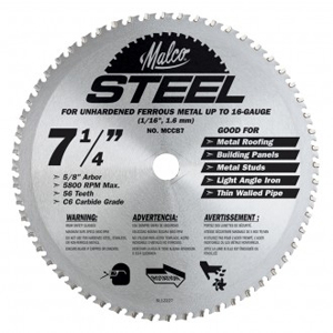 Circular Saw Blade: Steel