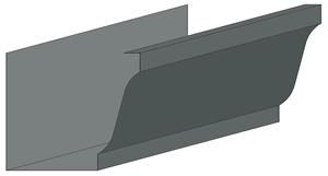 K-Style Zinc Gutter