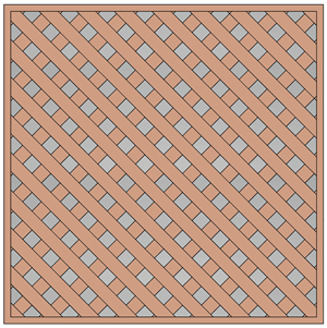 Ceiling Tile - Lattice