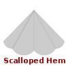 Scalloped Hem