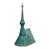 Ball and Spire Finial with Patina