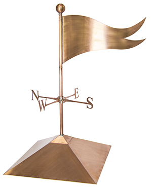 copper flag banner weathervane old world distributors